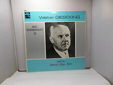 WALTER GIESEKING MUSIC BY DEBUSSY GRIEG RAVEL EMI HQM1225  VINYL LP RECORD