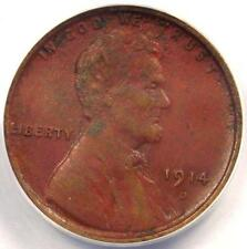 1914-D Lincoln Wheat Cent 1C - ANACS XF40 Details (EF40) - Rare Certified Penny