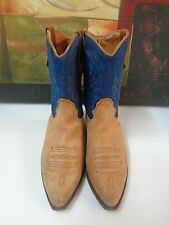 Seychelles Ankle Boots Blue and Tan brown women Size 8