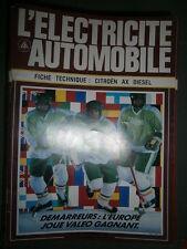 Citroën AX diesel 1.4 : Fiche technique L'électricité Automobile n° 588