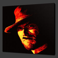 "CLINT EASTWOOD MOVIE ICON CANVAS WALL ART PICTURES PRINTS 12""x12"" FREE UK P&P"
