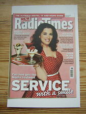 NEW Postcard Radio Times Cover 1-7 September 2007 Nigella Lawson Fast food Retro