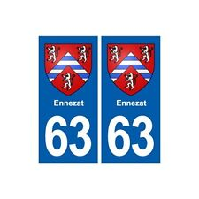 63 Ennezat blason autocollant plaque stickers ville arrondis