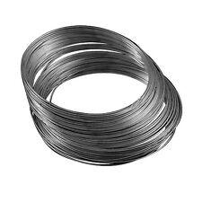Pack of 20 x Black Stainless Steel 0.6mm Memory Wire Bracelet Loop HA07525