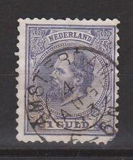 NVPH Netherlands Nederland 28 TOP CANCEL AMSTERDAM Willem III 1872 Pays Bas