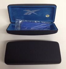 Lot of 2 Reebok Black Eyeglasses /Sunglasses Hard Case with Cleaning cloths NEW