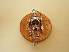 BEAUTIFUL  ' SKELETON  ' MOVING SILVER CHARM CHARMS
