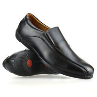 Mens Leather Slip On Casual Smart Boat Deck Mocassin Loafers Driving Shoes Size