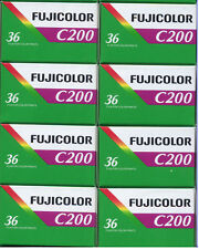 8 Roll Fuji Fujicolor C200 36 Exposure (200ASA) 35mm Color Film 7/2018 FRESH