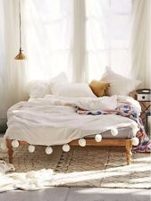 NEW Urban Outfitters Plum And Bow Alia Duvet Cover Queen Ivory
