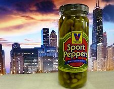 VIENNA BEEF Chicago Style Hot Dog Sport Peppers 12-oz Jar, FREE & FAST SHIPPING!
