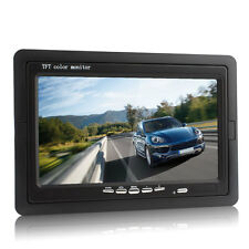 "7"" TFT LCD Color 2 Video Input DVD VCR Headrest Car Rear View Monitor HD 800*480"