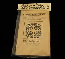 Hawaiian Quilt Pattern Bleeding Heart Creative Stitches 1989 Sewing