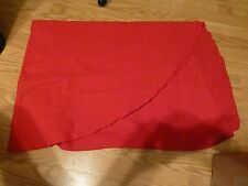 "Red Rectangular 82"" Table Cloth"