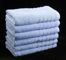 Egyptian Cotton Bath Sheets Blue 600 GSM Pack of 2