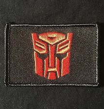 AUTOBOT TRANSFORMERS USA  ARMY BLACK OPS RED VELCRO® BRAND FASTENER MORALE PATCH
