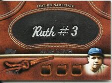 BABE RUTH 2011 TOPPS PATCH BLUE HAT BLACK LEATHER NAMEPLATE SP 83/99 NICE