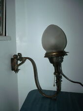 Antique Wall Gas Converted To Electric Sconce Light