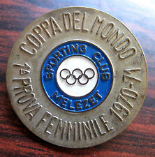 SKI WORLD CUP 1970-71, FIRST WOMEN'S TEST, SPORT CLUB MELEZET-ITALY BADGE