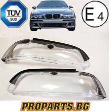 BMW E39 Facelift alle Modelle Scheinwerfer Gehäuse Streuscheibe Weiß 01-04 Set