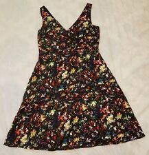 NWT Gap Maternity Black Confetti Double V Party Holiday Cocktail Dress Size 4