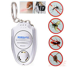 Mini Electronic Ultrasonic Mosquito Pest Repeller Keychain Flashlights Hot Sale