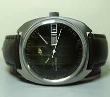OLD USED VINTAGE ENICAR AUTOMATIC DAY DATE SWISS MENS WRIST WATCH G238 ANTIQUE