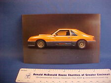 1980-1981 Ford McLaren SVO Mustang postcard from private estate collection--xcel