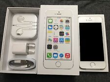 NEW Silver White iPhone 5S 64GB Factory Unlocked TMobile Straight Talk TRACFONE