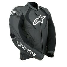 Alpinestars Jaws Black Leather Motorcycle Jacket Size 56***Now Only £275.00***