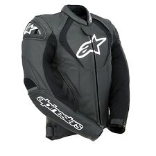 Alpinestars Jaws Black Leather Motorcycle Jacket Size 52***Now Only £275.00***