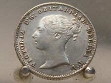 1855 Great Britain silver 4 Pence, Old World Sterling Silver Coin