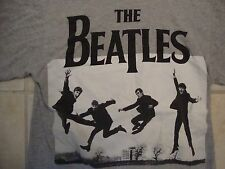 The Beatles Classic Rock Music Band Members Fan Throwback Gray T Shirt Size S