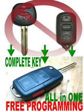 EURO FLIP KEY REMOTE FOR SCION XA XB CHIP TRANSPONDER KEYLESS ENTRY FOB 3WBX D2