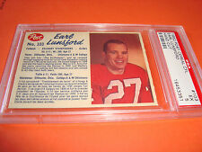 1962 Post Cereal CFL  #103  EARL LUNSFORD  psa 5  Calgary STAMPEDERS (351)