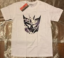 NEW Official Transformers Dconz Shield Megatron Men's White Medium T Shirt