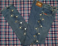 LAWMAN WESTERN Superior Fit STUDDED Rodeo Jeans Women's sz 7/8 Tall 26x34