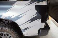 Custom Vinyl Rear Decal Torn Wrap Kit for Toyota Tundra TRD 2007-2013 Silver