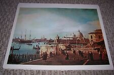 VENICE THE QUAY OF THE PIAZZETTA Canaletto Color Print