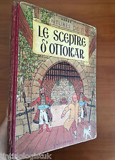 Tintin: Le Sceptre D' Ottokar 1950 Early Belgian Edition EO Herge first