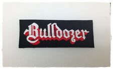 New Bulldozer Sew Iron On Patch Embroidered Extreme Metal Heavy Rock Band Music