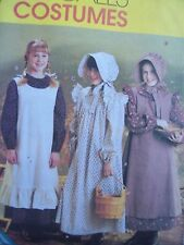 McCalls costume SEWING PATTERN! Uncut Pioneer Child's 14