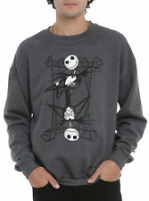 The Nightmare Before Christmas Jack Playing Card Crew Pullover, XL