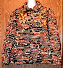 Womens Pretty Embroidered Graff Tapestry Jacket Size Medium very good