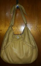 LUCKY BRAND Mustard Yellow Soft Leather Shoulder Bag Bow Handbag
