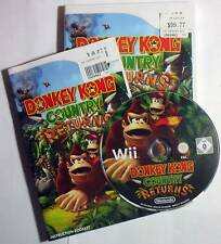 Donkey Kong Country Returns for Wii - complete - exc cond. - free post