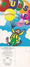 1997 LEEDS POSTCARD CLUB FAIR ADVERTISING PUDSEY CIVIC HALL POSTCARD UNUSED