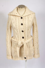 ABERCROMBIE & FITCH Ivory Wool Rabbit Cashmere Knit Cardigan Sweater Jacket M