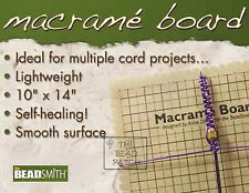 Beadsmith Macrame Board Large 14x10 Inches - Braiding, Cord Projects