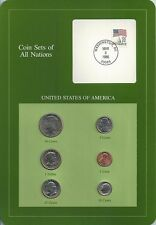 COIN SETS OF ALL NATIONS. USA 1980 - 1985. SC BU